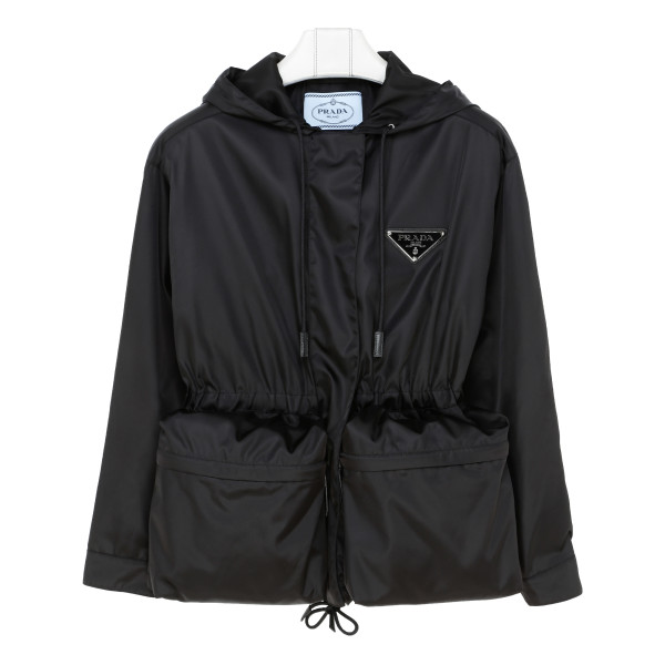 Black nylon parka