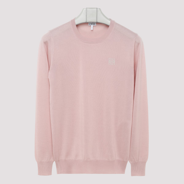 Baby pink anagram sweater