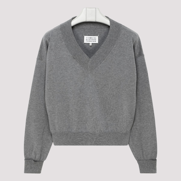 Gray cotton sweater