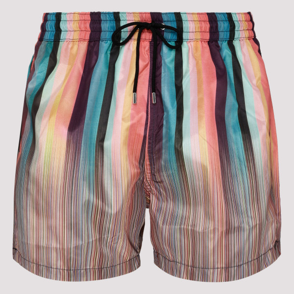 Multi-striped swim shorts