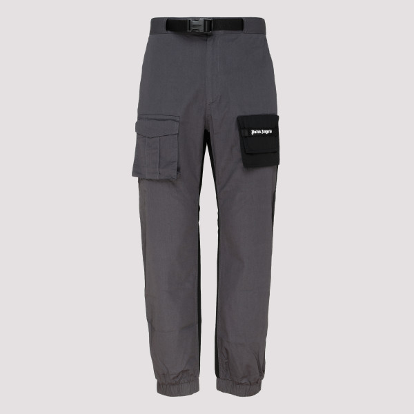 Grey Two Tone Cosy Cargo Pants