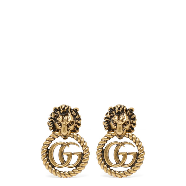Lion head earrings with Double G