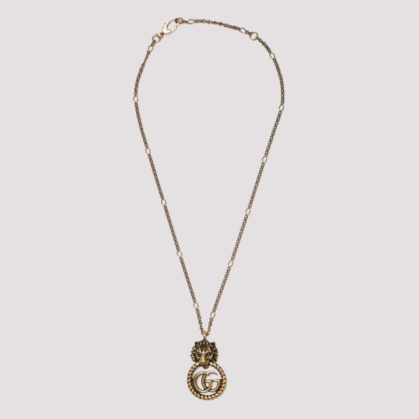 Lion head necklace with...