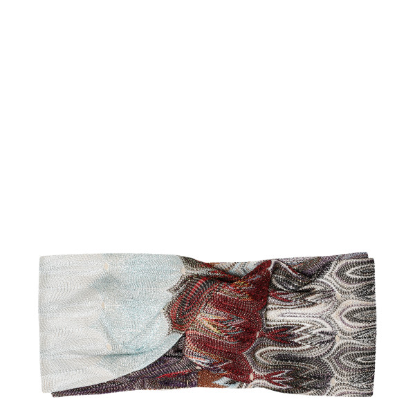 Multicolor knotted headband