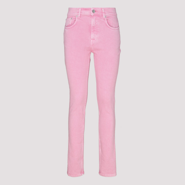 Pink stretch denim