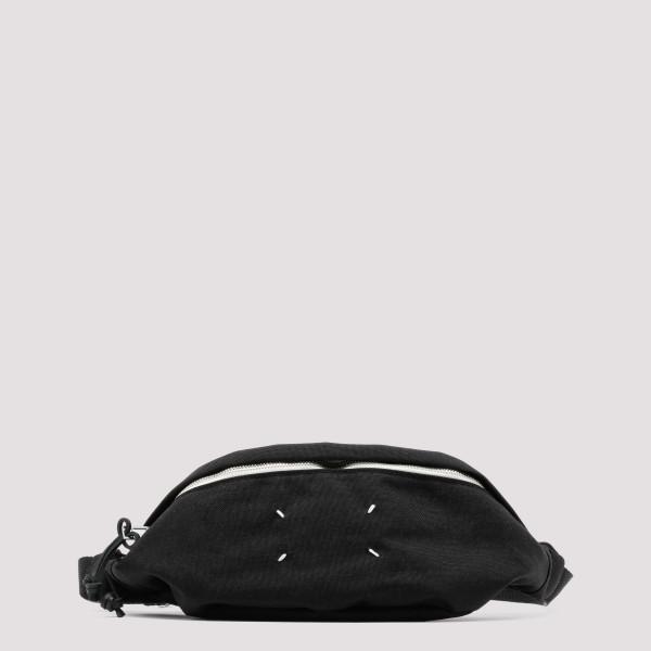 Black canvas belt bag