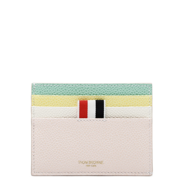 Multicolor pebbled leather card-holder