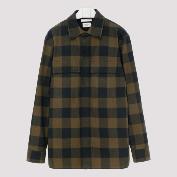 Check flannel cotton shirt