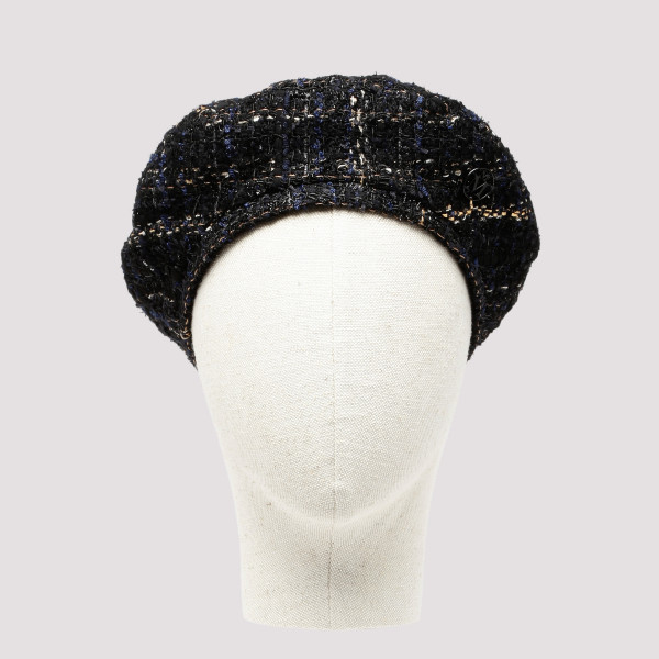 Flore black and gold tweed...