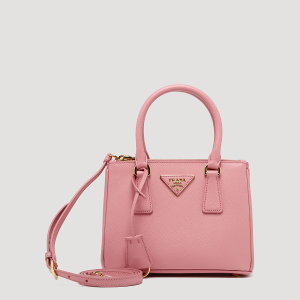 Pink saffiano leather handbag