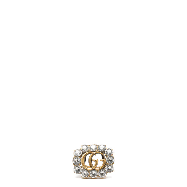 Crystal Double G ring