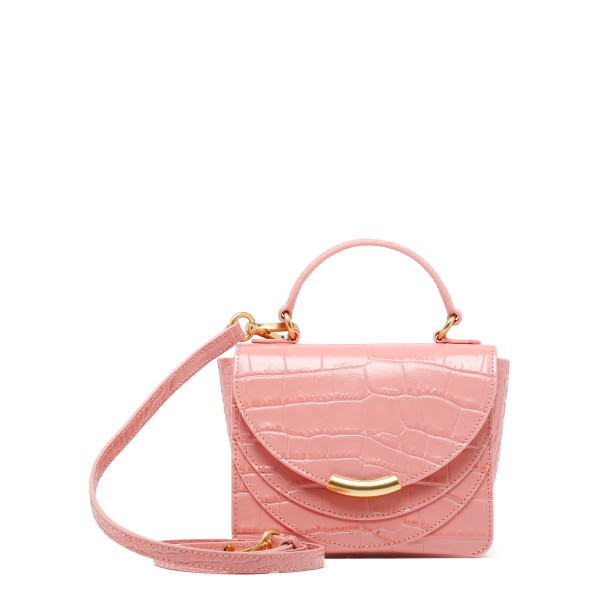 Pink croc-effect Mini Luna Arch bag