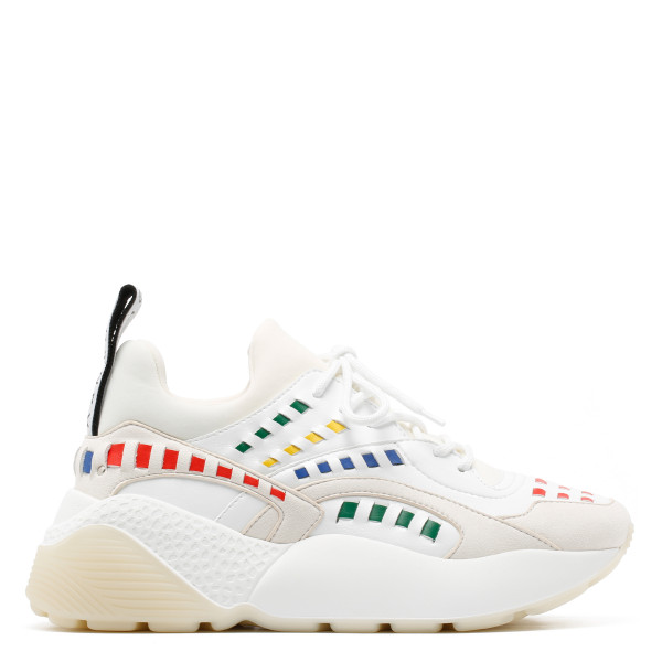 Eclypse white and multicolor sneakers