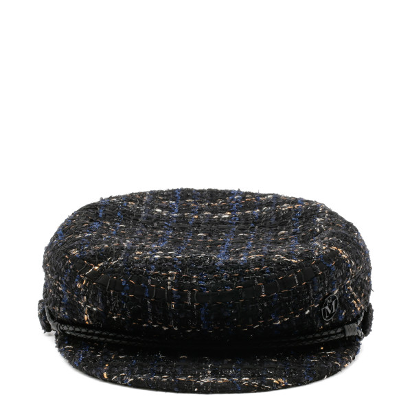 New Abby black and gold tweed sailor cap