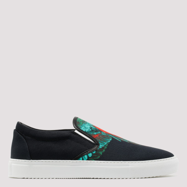 Green wings slip on sneakers