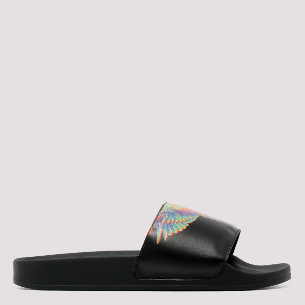 Wings print slide sandals