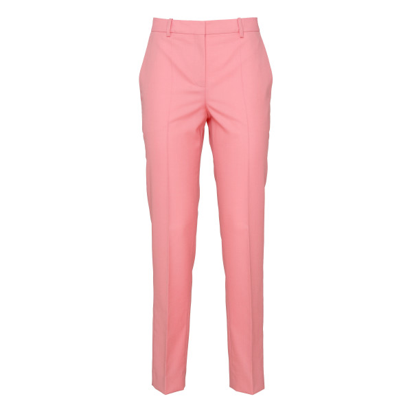 Pink wool tailored pants