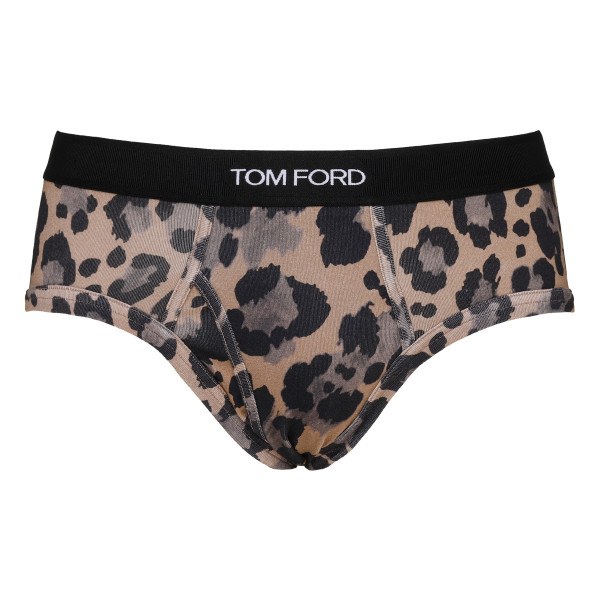 Leopard cotton briefs