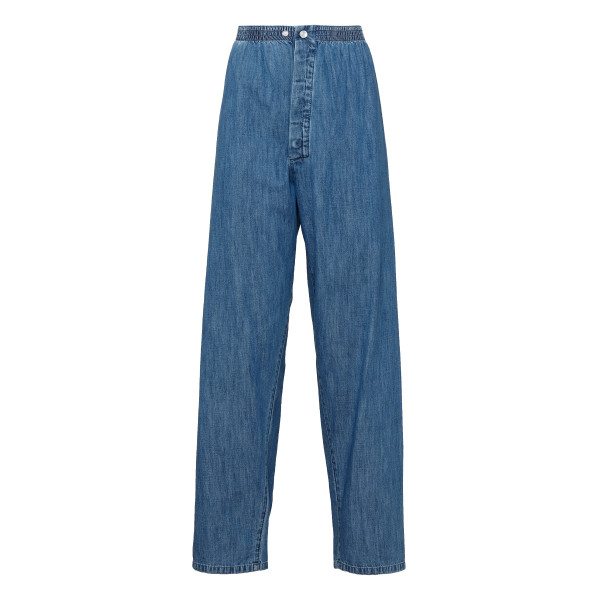 Blue denim pajama pants