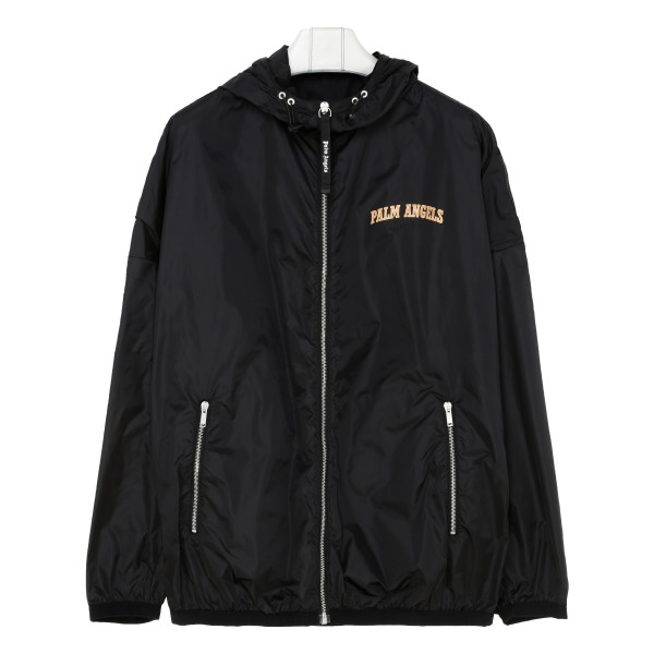 Black Logo College Windbreaker Jacket