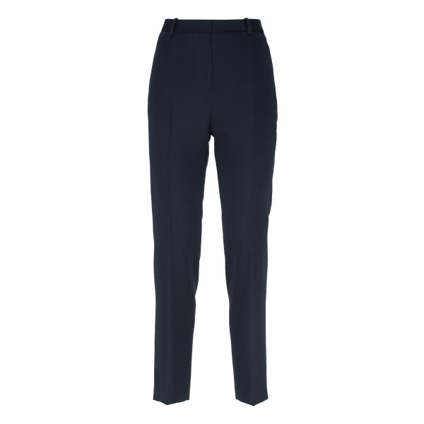 Black cigarette wool pants