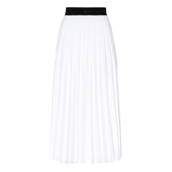 White Mid-length pleated skirt
