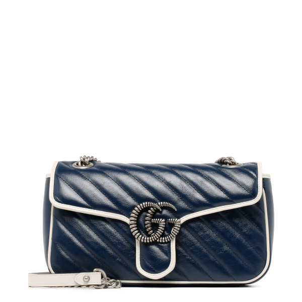Blue GG Marmont small shoulder bag