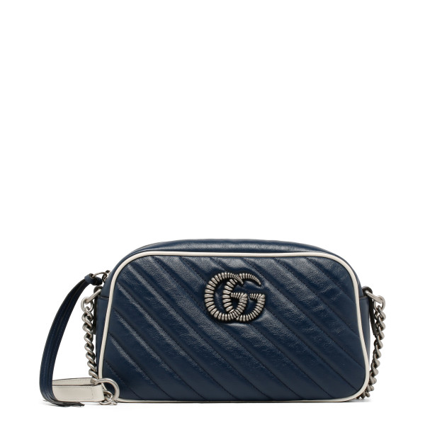 Blue GG Marmont matelassé shoulder bag