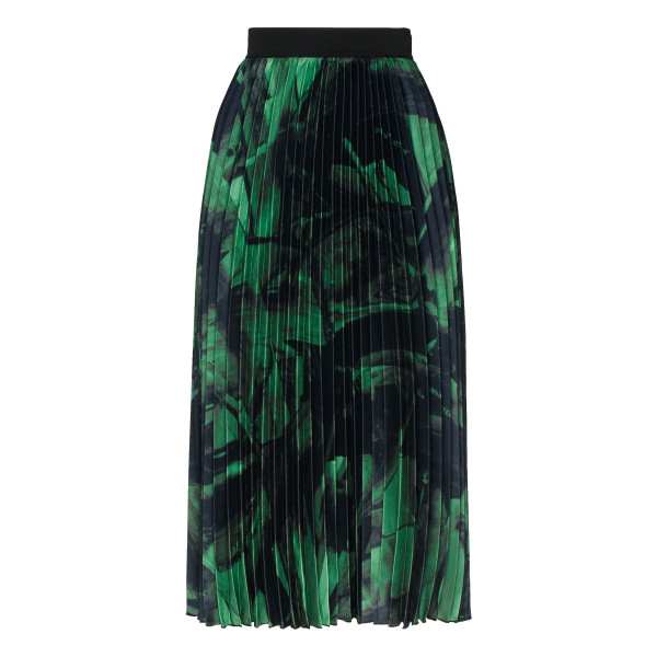 Brushstroke plisse skirt