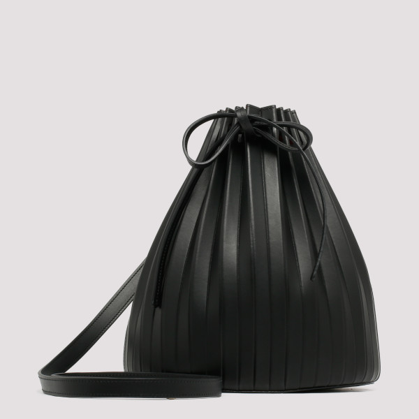 Black Leather pleated...