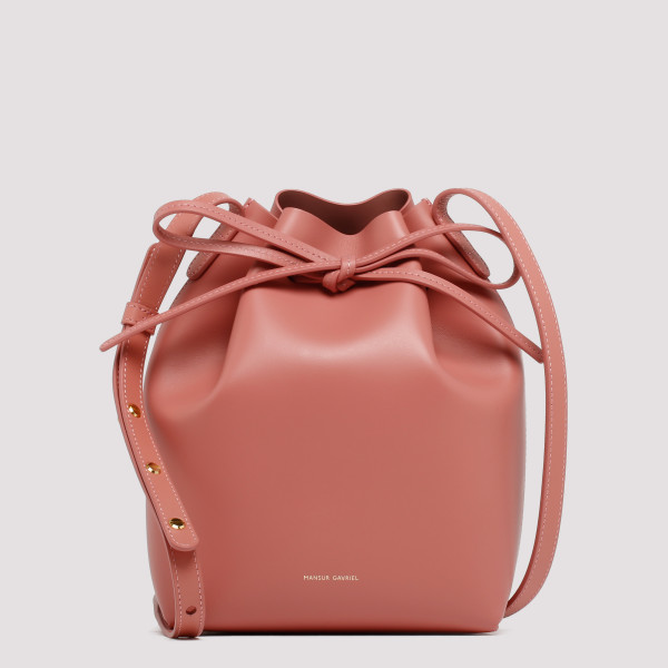 Blush pink bucket bag
