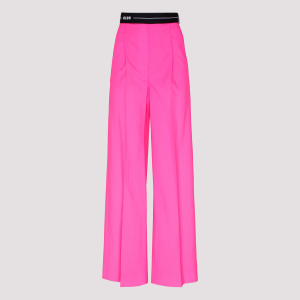 Fuchsia pants with elastic...