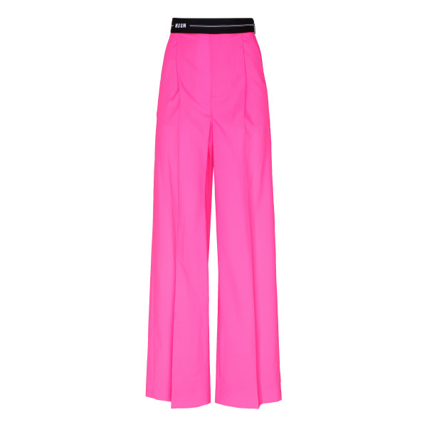 Fuchsia pants with elastic waist