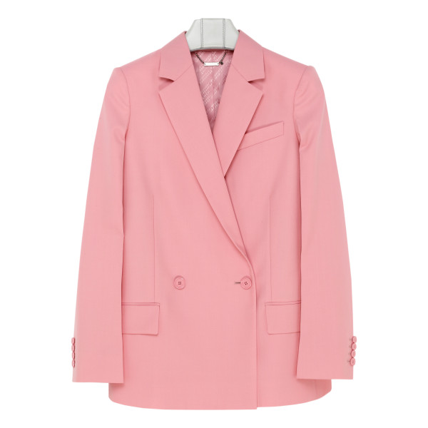Pink wool double-breasted jacket