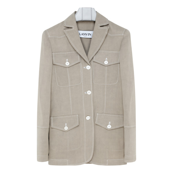 Tailored beige safari jacket