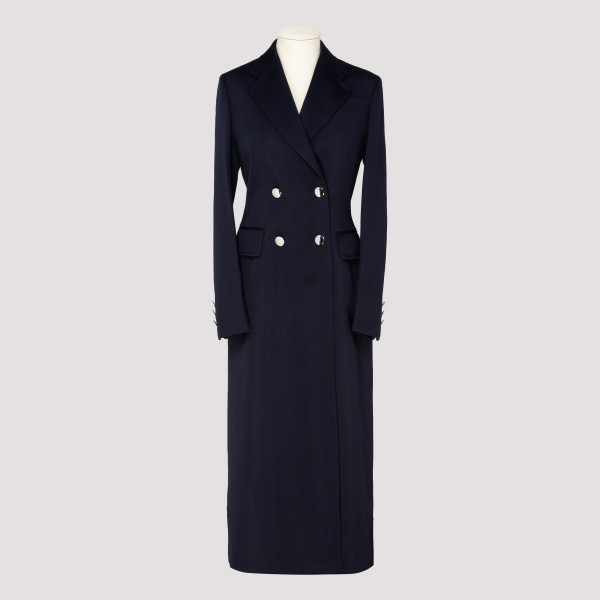 Navy double-breasted coat