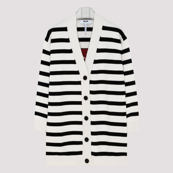 Logo striped cardigan