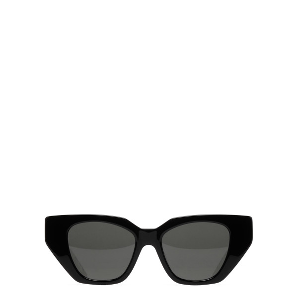 Black cat-eye acetate sunglasses