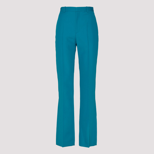 Bright blue Wide-leg trousers