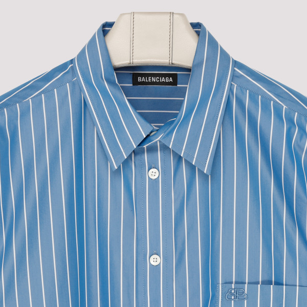 Striped double sleeves shirt