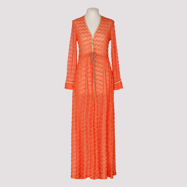 Orange textured beach dress