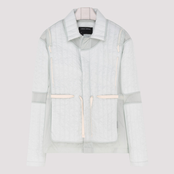 Quilted panelled jacket