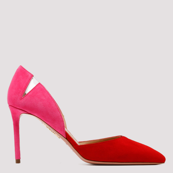 Red and pink sharp pumps