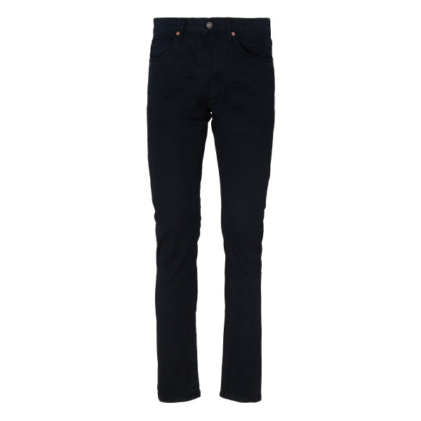 Dark navy stretch denim jeans