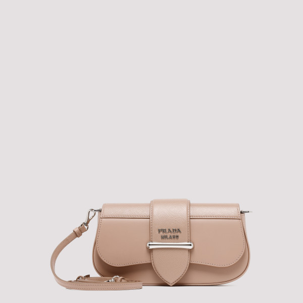 Sidonie nude clutch bag