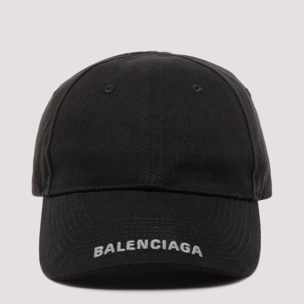 Black canvas baseball cap