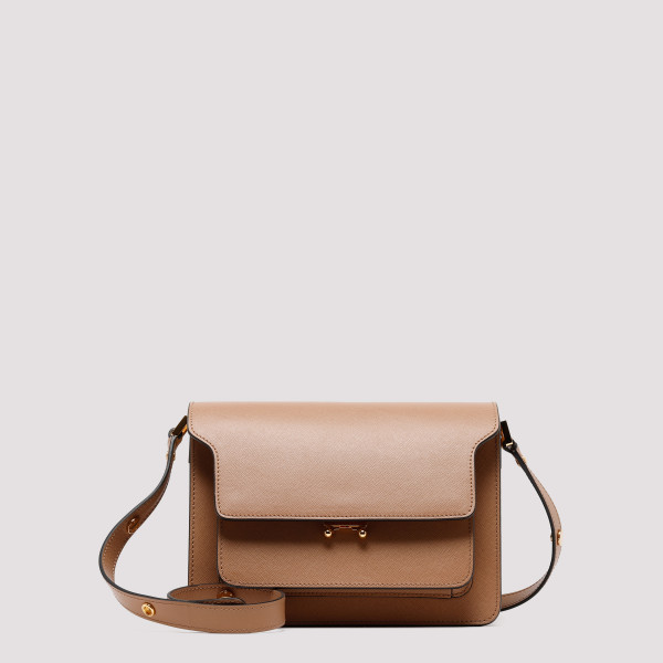 Brown leather Trunk bag