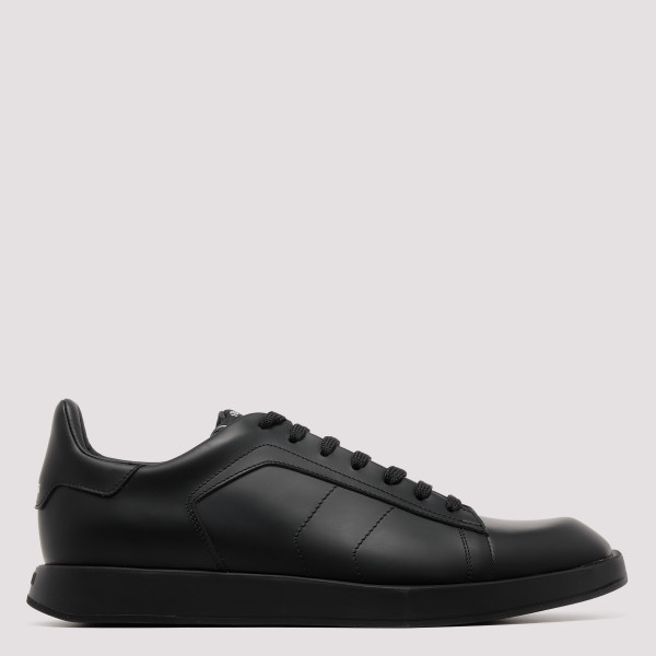 Black Stellar Leather Sneakers