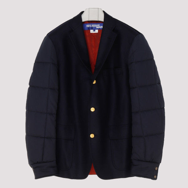 Navy quilted panels jacket