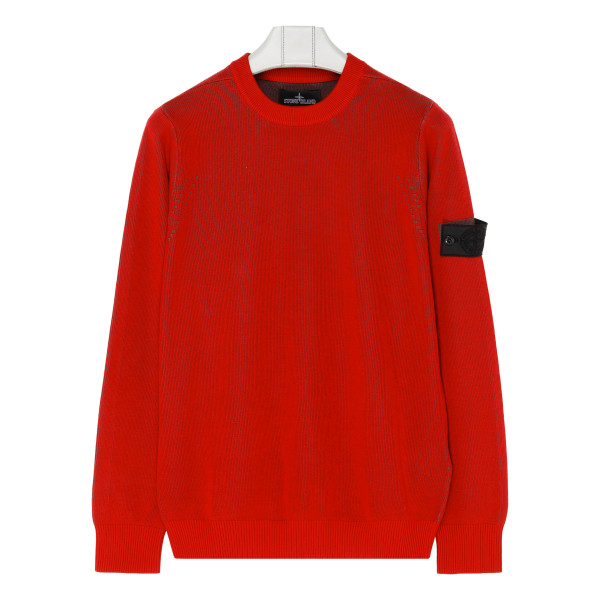 Pepper red cotton sweater